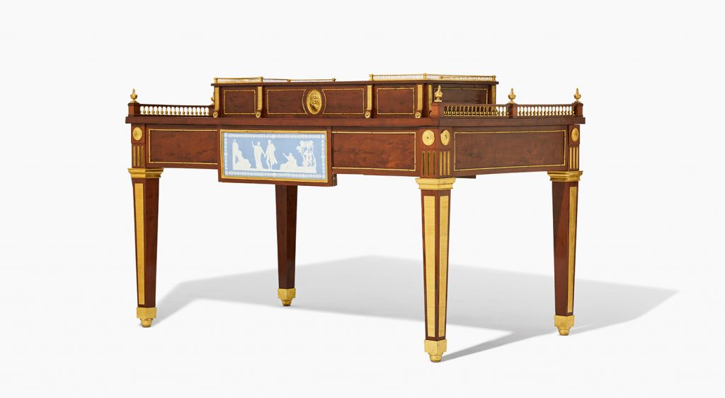 An Important Louis Xvi Center Table In The Manner Of David Roentgen