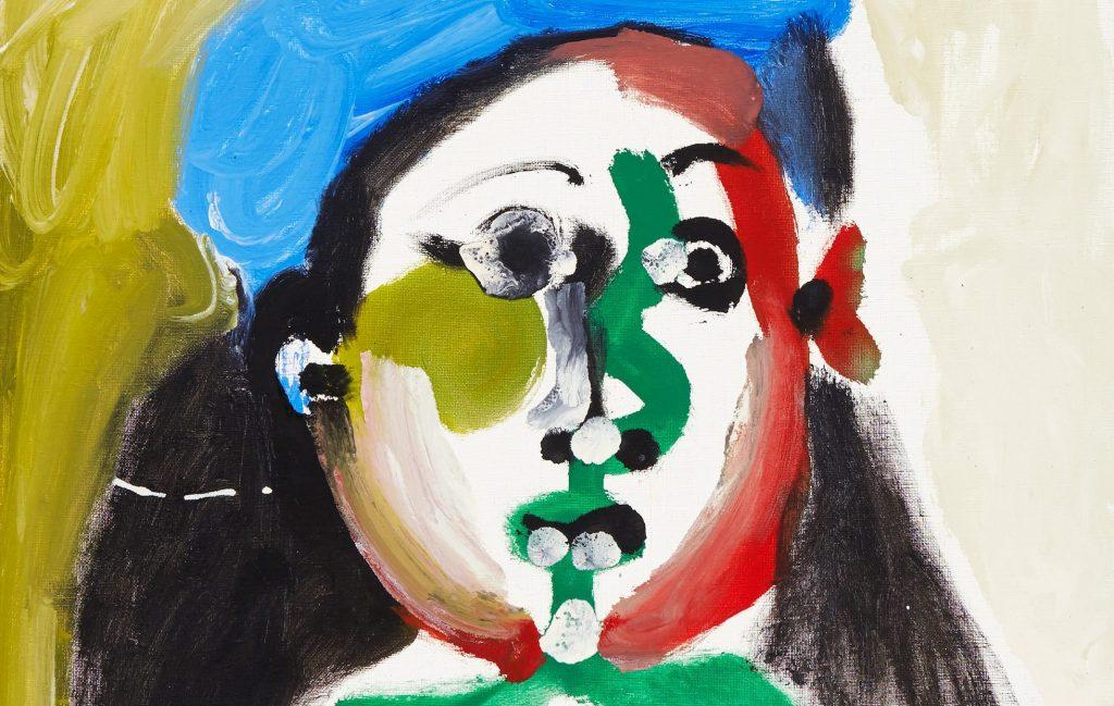 """Pablo Picasso, """"Fillette au béret"""" (detalj). Såld för 26,2 miljoner kr"""